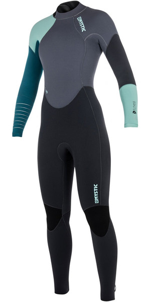2018 Mystic Dutchess Womens 5/4mm Back Zip Wetsuit Teal 180027