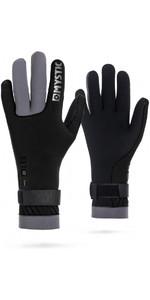2019 Mystic 2mm Regular Kitesurfing Glove Black / Grey 170155