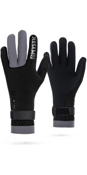 2019 Mystic 2mm Regular Kitesurfing Glove Black / Grey 170155