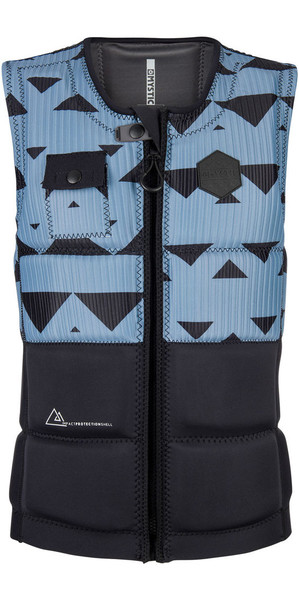2018 Mystic Magician Front Zip Wake Impact Vest Pewter 180150