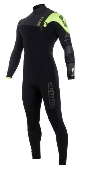 2018 Mystic Majestic 3/2mm Zip Free Wetsuit BLACK / Lime 170260