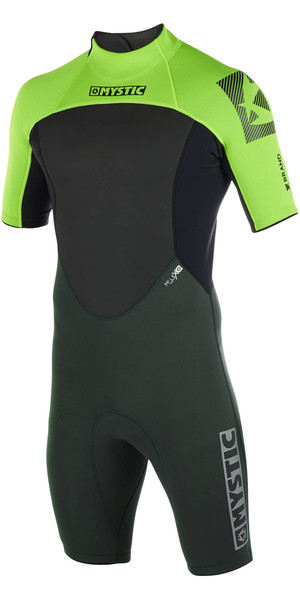 2019 Mystic Mens Brand 3/2mm Back Zip Shorty Wetsuit Teal 180055