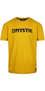 2021 Mystic Mens Brand Tee 35105.190015 - Mustard