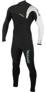 2019 Mystic Mens Majestic Len10 5/3mm Zip Free Wetsuit Black / White 190175