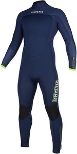 2019 Mystic Mens Marshall 3/2mm Back Zip Wetsuit 200011 - Navy / Lime