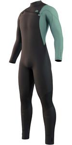 2022 Mystic Mens Marshall 4/3mm Chest Zip Wetsuit 35000.220011 - Black / Green