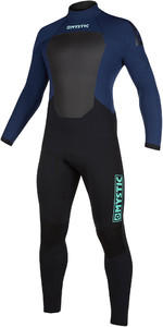 2021 Mystic Mens Star 5/3mm Back Zip Wetsuit 200015 - Navy