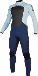 2021 Mystic Mens Star 4/3mm Back Zip Wetsuit 200016 - Navy / Grey