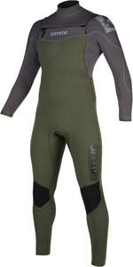 2019 Mystic Mens Star 5/3mm Double Front Zip Wetsuit 200012 - Grey / Green