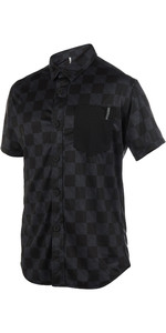 2019 Mystic Shred Quickdry Short Sleeve Blouse Black 180142
