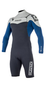 2019 Mystic Star 3/2mm Chest Zip long Arm Shorty Wetsuit Navy 180048