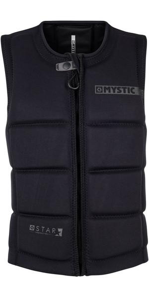 2018 Mystic Star Front Zip Wake Impact Vest Black 180152