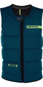 2019 Mystic Star Front Zip Wake Impact Vest Teal 180152