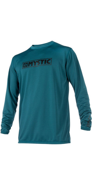 2018 Mystic Star L / S Loosefit Quick Dry Rash Vest Teal 180106