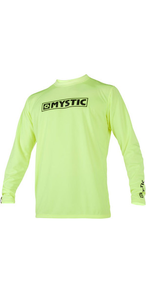 2019 Mystic Star Long Sleeve Loosefit Quick Dry Rash Vest Lime 180106