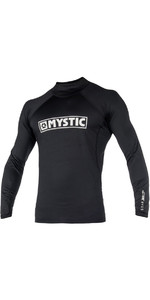 2021 Mystic Star Long Sleeve Rash Vest Black 180112