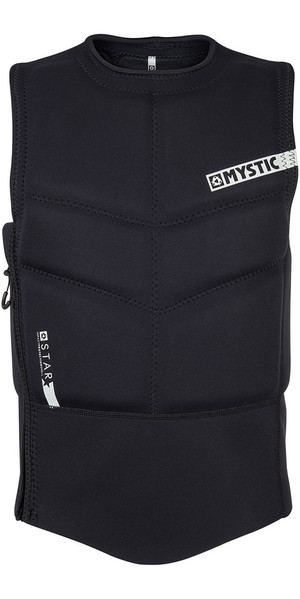 2018 Mystic Star Side Zip Kite Impact Vest Black 180088