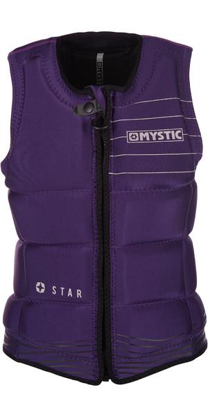 2019 Mystic Star Womens Front Zip Wake Impact Vest Purple 180156