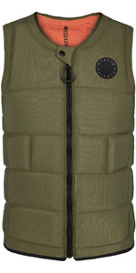 2020 Mystic The Dom Impact Vest Wake Front Zip WDOM - Brave Green