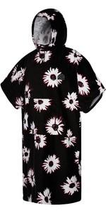 2021 Mystic Velour Change Robe Poncho 35018.210134 - Black / White