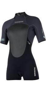 2019 Mystic Womens Brand 3/2mm Back Zip Shorty Wetsuit Black 180071