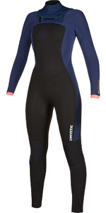 2019 Mystic Womens Dazzled 3/2 Double Chest Zip Wetsuit 200023 - Navy
