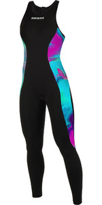 2019 Mystic Womens Diva 2mm Back Zip Long John Wetsuit Aurora 190085