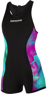 2019 Mystic Womens Diva 2mm Back Zip Short John Wetsuit Aurora 190086