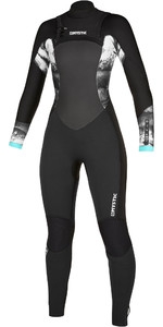 2020 Mystic Womens Diva 4/3 Double Chest Zip Wetsuit 200020 - Black
