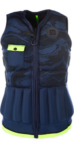 2019 Mystic Womens Diva Front Zip Wake Impact Vest Navy / Lime 190128