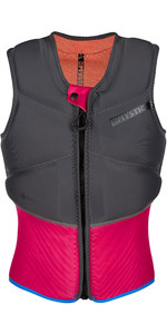 2020 Mystic Womens Diva Front Zip Kite Impact Vest 200111 - Phantom Grey