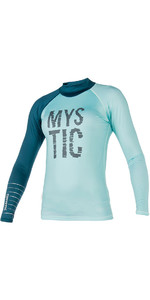 Mystic Womens Dutchess Long Sleeve Rash Vest Teal 170294