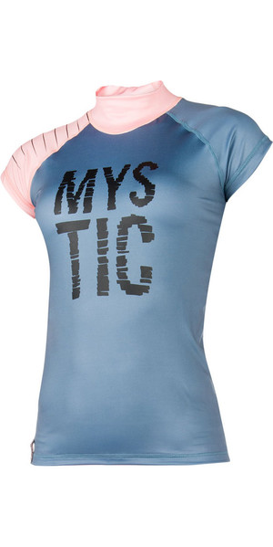 2018 Mystic Womens Dutchess S /  S Rash Vest Pewter 170295