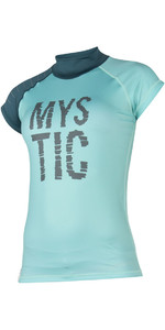 Mystic Womens Dutchess S /  S Rash Vest Teal 170295