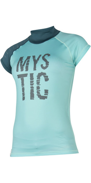 2018 Mystic Womens Dutchess S /  S Rash Vest Teal 170295