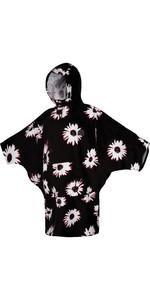 2021 Mystic Womens Poncho / Change Robe 21014- Black / White
