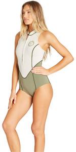 2019 Billabong Womens Salty Dayz 1mm Neoprene Sleeveless Spring Wetsuit Sand Dollar N41G04