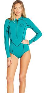 2019 Billabong Womens Salty Dayz 2mm LS Spring Wetsuit Palm Green N42G03