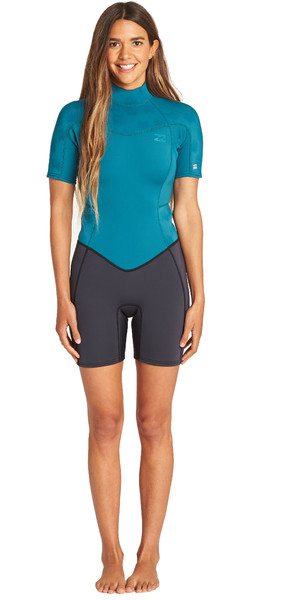 2019 Billabong Womens Furnace Synergy 2mm Shorty Wetsuit Pacific N42G04
