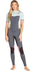 2019 Billabong Womens Furnace Synergy 2mm Short Sleeve Chest Zip GBS Wetsuit Serape N42G06