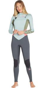 2019 Billabong Womens Furnace Synergy 3/2mm Chest Zip GBS Wetsuit Seafoam N43G03