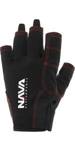 2021 NAVA Performance Short Finger Sailing Gloves NAVA009 - Black