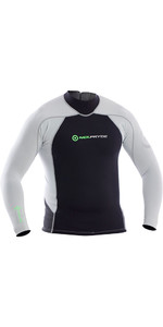 Neil Pryde Elite Firewire 1mm Long Sleeve Top Black / Silver SAB607