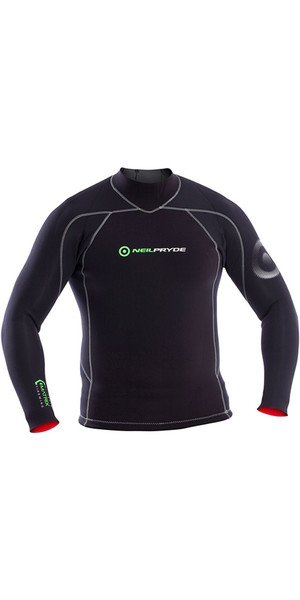 2018 Neil Pryde Elite Firewire 3mm Long Sleeve Top Black SAB601