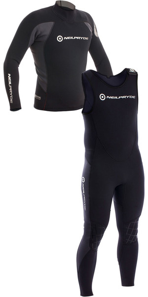 2018 Neil Pryde Junior Raceline 3/2mm Neoprene Top & Long John Combi Black