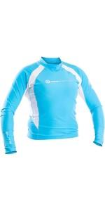 Neil Pryde Womens Elite Long Sleeve Rash Vest WUKRSB943 - Blue / White