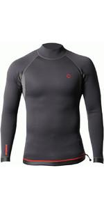 2021 Nookie Mens Ti 1mm Long Sleeve Wetsuit Top NE12 - Black / Red