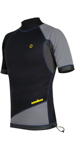 2019 Nookie Ti 1mm Neoprene Short Sleeve Vest Top Black / Grey / Yellow NE11