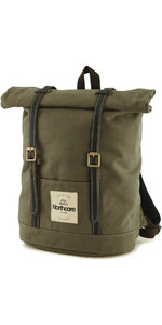 2021 Northcore Waxed Canvas Back Pack NOCO118 - Olive Green