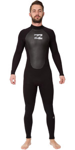 2019 Billabong Mens Intruder 3/2mm GBS Back Zip Wetsuit BLACK 043M15